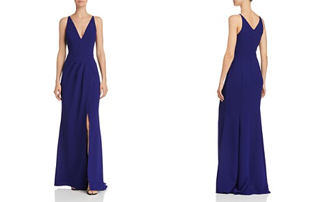 AQUA Pleat-front V-Neck Gown - 100% Exclusive - Bloomingdale's_2