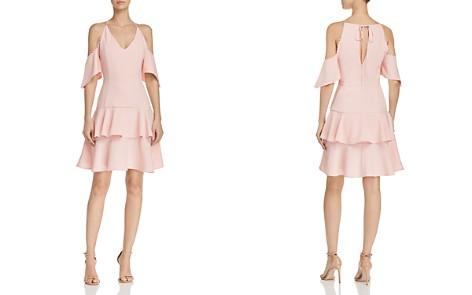 AQUA Flippy Dot-Trimmed Cold-Shoulder Mini Dress - 100% Exclusive - Bloomingdale's_2