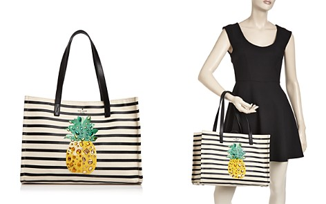 kate spade new york By The Pool Pineapple Mega Sam Embellished Canvas Tote - Bloomingdale's_2