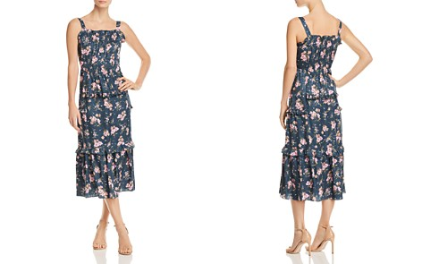 Rebecca Taylor Emilia Floral-Print Silk Midi Dress - Bloomingdale's_2