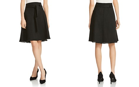 Maje Jibella Frayed-Hem Denim Skirt - Bloomingdale's_2