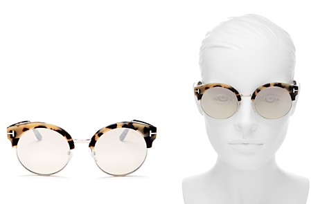 Tom Ford Women's Allissa Mirrored Round Sunglasses, 54mm - Bloomingdale's_2