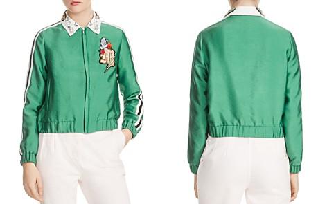 Maje Block Cropped Block Embellished-Collar Jacket - Bloomingdale's_2
