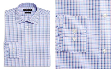 The Men's Store at Bloomingdale's Overcheck Regular Fit Dress Shirt - 100% Exclusive_2