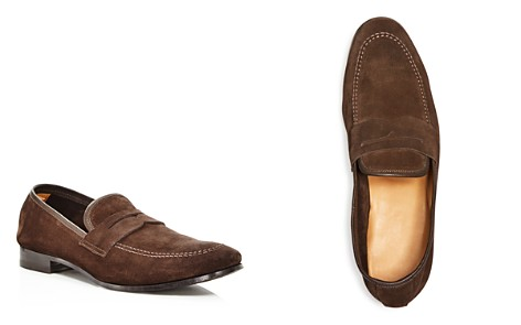 The Men's Store at Bloomingdale's Men's Suede Apron Toe Penny Loafers - 100% Exclusive _2