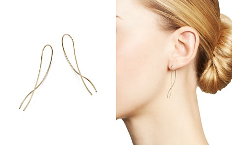 Bloomingdale's Paisley Crossover Threader Earrings in 14K Yellow Gold - 100% Exclusive_2