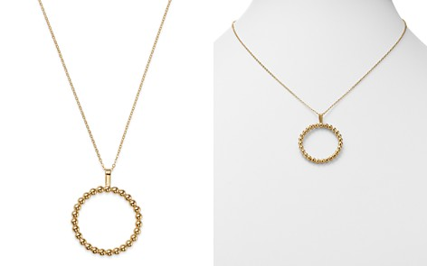 Bloomingdale's Milgrain Circle Pendant Necklace in 14K Yellow Gold - 100% Exclusive_2