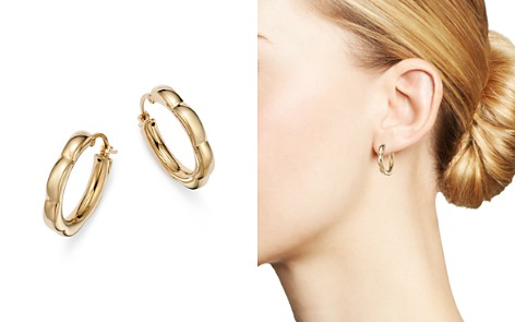 Bloomingdale's Small Scalloped Hoop Earrings in 14K Yellow Gold - 100% Exclusive_2