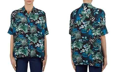 Gerard Darel Clotilde Tropical-Print Button-Down Shirt - Bloomingdale's_2