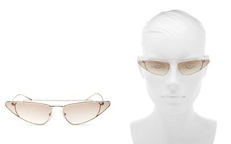Prada Women's UltraVox Slim Brow Bar Cat Eye Sunglasses, 68mm - Bloomingdale's_2