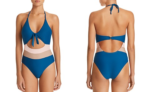 Ella Moss Neopolitan Halter One Piece Swimsuit - Bloomingdale's_2