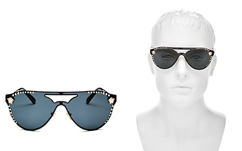 Versace Collection Embellished Rimless Aviator Sunglasses, 42mm - Bloomingdale's_2