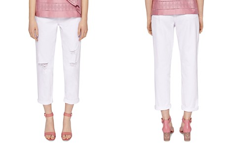 Ted Baker Cottoned On Arriana Bleached Slim Boyfriend Jeans in White - Bloomingdale's_2
