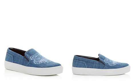 Kenzo Women's Special Tiger Embroidered Denim Slip-On Sneakers - Bloomingdale's_2