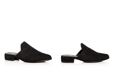 Eileen Fisher Women's Tumbled Nubuck Leather Mules - Bloomingdale's_2