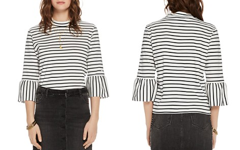 Scotch & Soda Striped Cotton Bell-Sleeve Top - Bloomingdale's_2