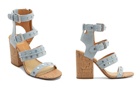 Dolce Vita Women's Eddie Denim High Block Heel Gladiator Sandals - Bloomingdale's_2