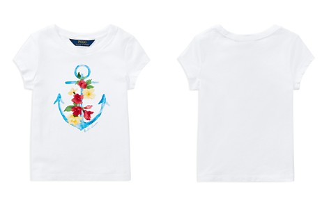 Polo Ralph Lauren Girls' Anchor Graphic Tee - Little Kid - Bloomingdale's_2