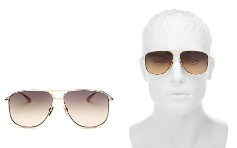 Gucci Men's Brow Bar Aviator Sunglasses, 64mm - Bloomingdale's_2