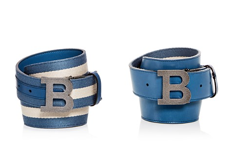 Bally Stripe & Leather Reversible Belt - Bloomingdale's_2