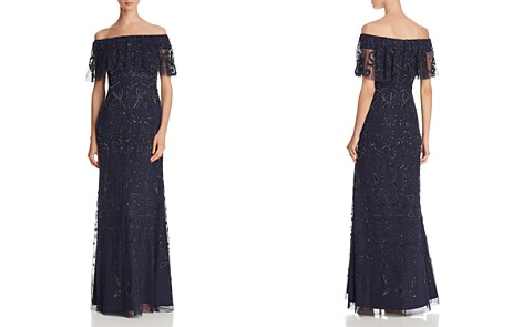 Adrianna Papell Off-the-Shoulder Embellished Gown - Bloomingdale's_2