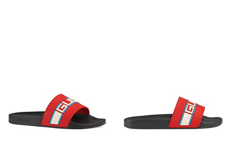 Gucci Men's Stripe Logo Slide Sandals - Bloomingdale's_2