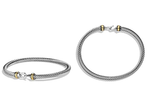 David Yurman Cable Buckle Bracelet with 18K Gold - Bloomingdale's_2