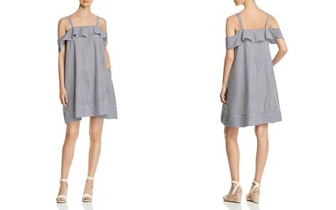 Cupio Striped Ruffle Overlay Dress - Bloomingdale's_2