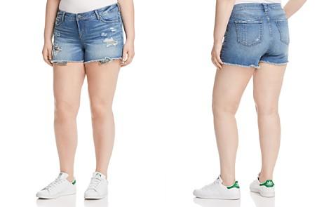 SLINK Jeans Plus Camo Pocket Distressed Denim Shorts - Bloomingdale's_2
