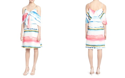 CATHERINE Catherine Malandrino Eden Watercolor Print Cold-Shoulder Dress - Bloomingdale's_2