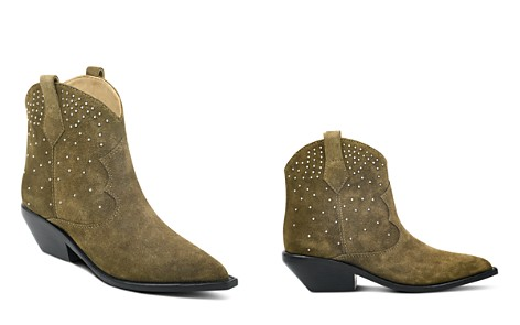 Sigerson Morrison Women's Tira Studded Suede Western Booties - Bloomingdale's_2