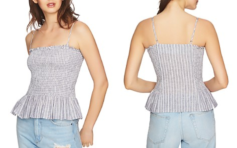 1.STATE Striped Smocked Camisole - Bloomingdale's_2