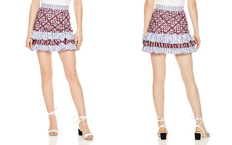 Sandro Rym Tiered Eyelet Mini Skirt - Bloomingdale's_2