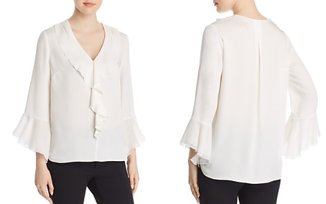 Elie Tahari Julianna Silk Flutter Blouse - Bloomingdale's_2