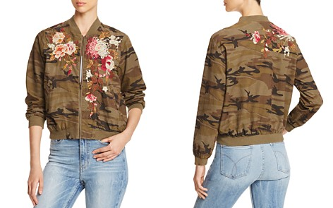 Johnny Was Chrystie Embroidered Camo Corduroy Bomber Jacket - Bloomingdale's_2