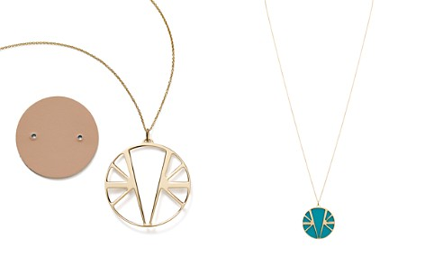"Les Georgettes Ibiza Round Pendant Necklace in Nude/Aquatic, 30"" - Bloomingdale's_2"