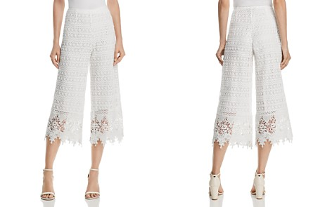 AQUA Cropped Wide-Leg Lace Pants - 100% Exclusive - Bloomingdale's_2