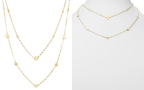 "Moon & Meadow Layered Flat Link & Disc Station Necklace in 14K Yellow Gold, 16"" - 100% Exclusive - Bloomingdale's_2"