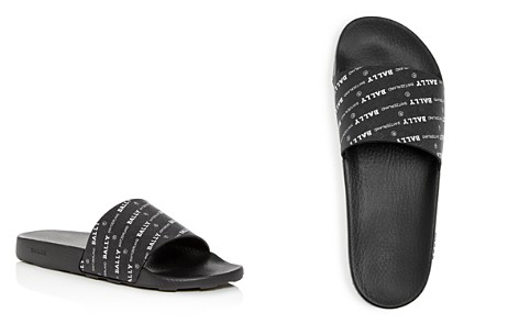 Bally Men's Slanter Logo Print Slide Sandals - Bloomingdale's_2