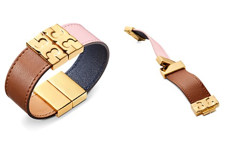 Tory Burch Color-Block Reversible Leather Bracelet - Bloomingdale's_2