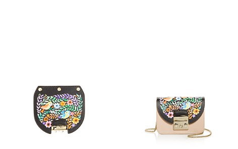 Furla MY PLAY Interchangeable Metropolis Fiona Laser-Cut Floral Print Leather Flap - Bloomingdale's_2
