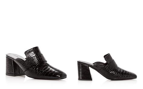 Freda Salvador Women's Croc-Embossed Leather Block-Heel Mules - Bloomingdale's_2