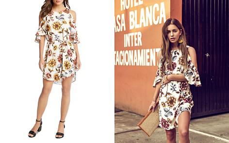 Karen Kane Cold-Shoulder Floral Dress - Bloomingdale's_2