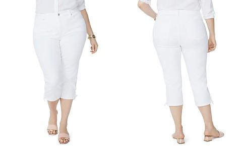 NYDJ Plus Lace-Up Cuff Skinny Capri Jeans in Optic White - Bloomingdale's_2