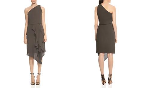 HALSTON HERITAGE Draped One-Shoulder Dress - Bloomingdale's_2