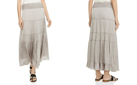 HALSTON HERITAGE Tiered Smocked Midi Skirt - Bloomingdale's_2