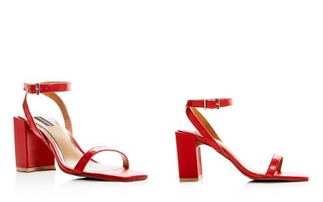 JAGGAR Women's Squared Leather Block Heel Sandals - Bloomingdale's_2