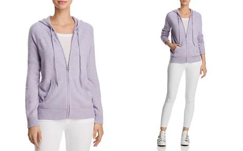 AQUA Cashmere Zip-Front Hoodie - 100% Exclusive - Bloomingdale's_2