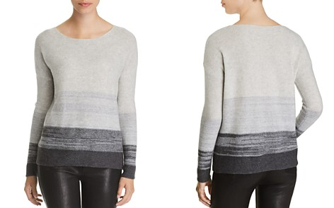 C by Bloomingdale's Marled Color-Block Cashmere Sweater - 100% Exclusive _2