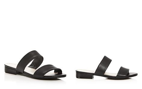 Kenneth Cole Women's Viola Leather Low Heel Slide Sandals - Bloomingdale's_2